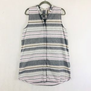 Woolrich Sleeveless Striped Aztec Print Dress